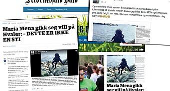 Maria Mena gikk en tur på stien og tullet om det på Facebook. MEN DETTE ER IKKE EN SAK!