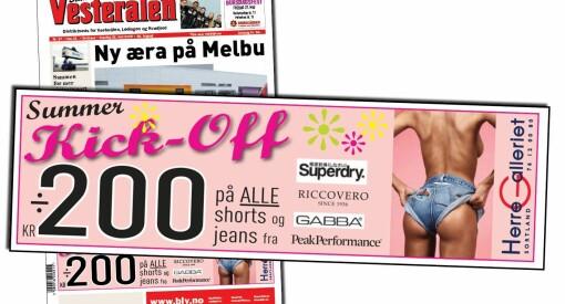 Jeg synes ikke det er greit å bli møtt av en reklame med sidepupp og shorts opp i rumpa på forsiden