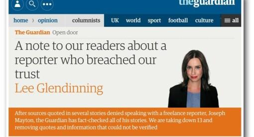 Britisk presseskandale: Frilanser fikk fiktive intervjuer og reportasjer på trykk i The Guardian