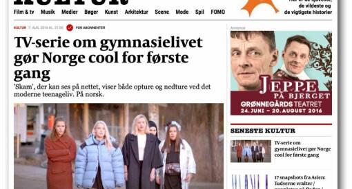 SKAM får ros i Danmark: Politiken slår fast at TV-serien «gør Norge cool for første gang»