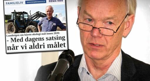 Senterpartiets Per Olaf Lundteigen reklamerte for «erkefienden» Rema 1000 på VGs Familieliv
