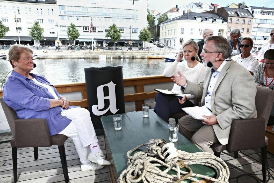 Arendalsuka 2015: Gro Harlem Brundtland blir utspurt av Trine Eilertsen og Harald Stanghelle.