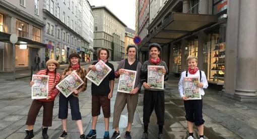 Full aviskrig i Bergen: Bergensavisen med fulldistribusjon og innleid teater til å rope ut oppslaget på gata