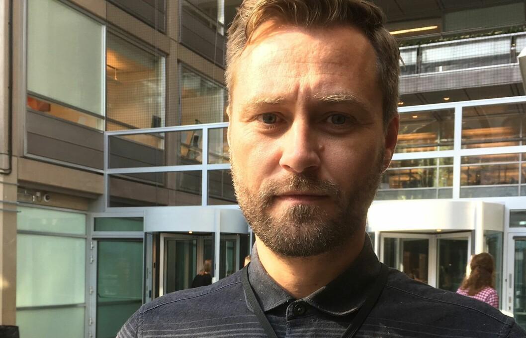 Frank Lynum, avtroppend eklubbleder i Aftenposten.