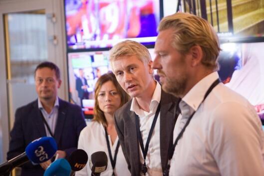 TV 2-ledelsen da kuttene ble presentert i Bergen høsten 2017.