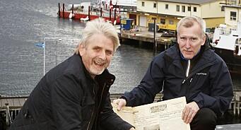 For 70 år siden kom den første Fiskeribladet ut i Harstad. Her står Jon Eirik og Terje fortsatt til tjeneste for kystens befolkning