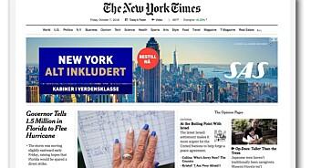 New York Times kutter ut bannerannonser - etablerer nytt native-format sammen med Google