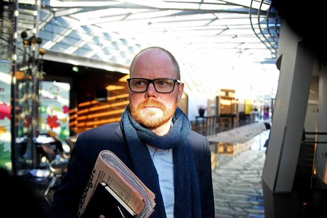 Gard Steiro overtar som sjefredaktør og direktør i VG. Her fra høsten 2016 på Hauststormen i Bergen.