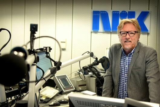 Regionredaktør Kai Aage Pedersen i NRK Vest er sjefen til Dyveke Buanes. Her fra da Medier24 traff ham i NRK Hordalands radiostudio på Minde i fjor..