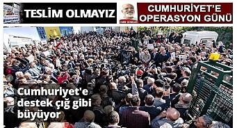 Tyrkisk avis kuppet i går, men Cumhuriyet nekter å «overgi seg»: – Erdogan tar fullstendig kvelertak på det som er igjen av fri presse