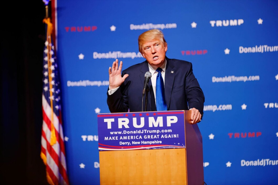 Donald Trump, USAs 45. president.