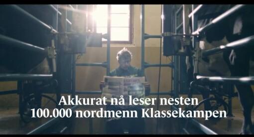 Klassekampen klinket til med tidenes 60-årsgave til Bjørgulv Braanen: Sjefredaktøren fikk oppfylt drømmen om reklamefilm på TV