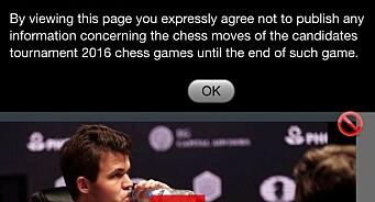 VG ville nekte seerne å fortelle om sjakktrekkene i VM. Misforståelse, svarer mediehuset og fjernet formuleringen