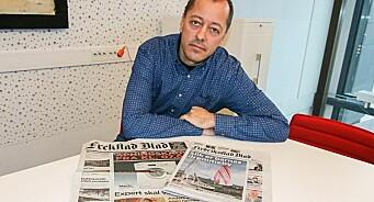 Expert plagierte logoen til Fredriksstad Blad på forsiden av reklameinnstikk. Ugreit og frekt, sier sjefredaktør René Svendsen