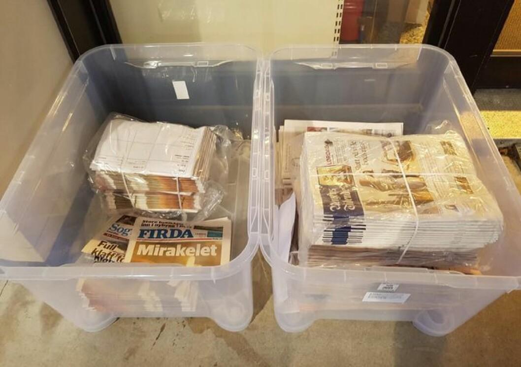 Her endte noen av Firda sine aviser for noen uker siden - angivelig forlatt av Kvikkas.<br />