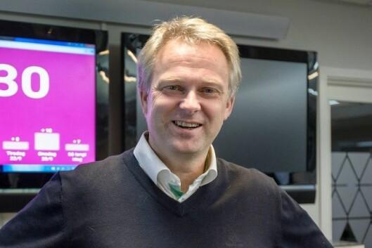 Redaktør Yngve Årdal i Firda. Bildet er tatt ved en tidligere anledning.