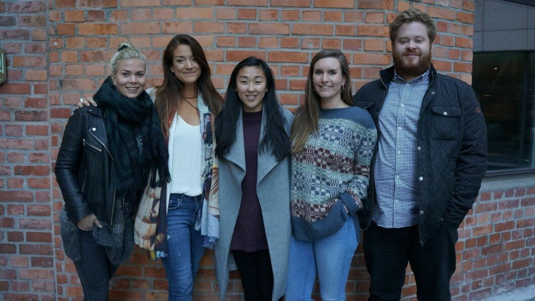 UIs norske team, fra venstre: Elisabeth Nordahl (Head of Campaign), Julie Holst Berntsen (CEO), Sandra Claesson (Head of Sales), Viola Wenaas Myrann (Agent) og Joachim Sandli (Campaign Manager).