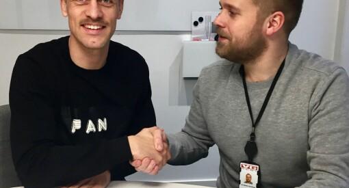 VGTV signerer fotballspiller - Mads Hansen blir sidekick i «Spårtsklubben»
