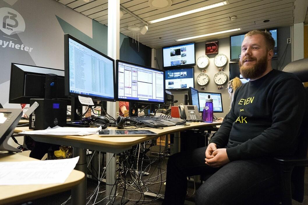 Gruppeleder Even Nielsen i P3nyheter skal jobbe med sosiale medier i NRK Nyheter fremover.