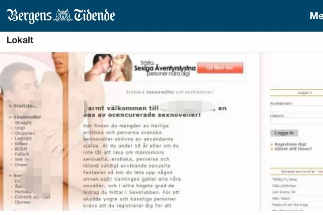 Bergens Tidende brukte dette bildet til å illustrere saken «Politimann siktet for å ha lest om overgrep mot barn i 5-årsalderen». Faksimile (Sensurert av Medier24)
