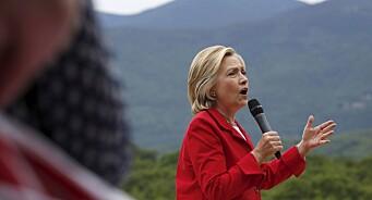Hillary Clinton mener falske nyheter er en epidemi som truer sikkerheten