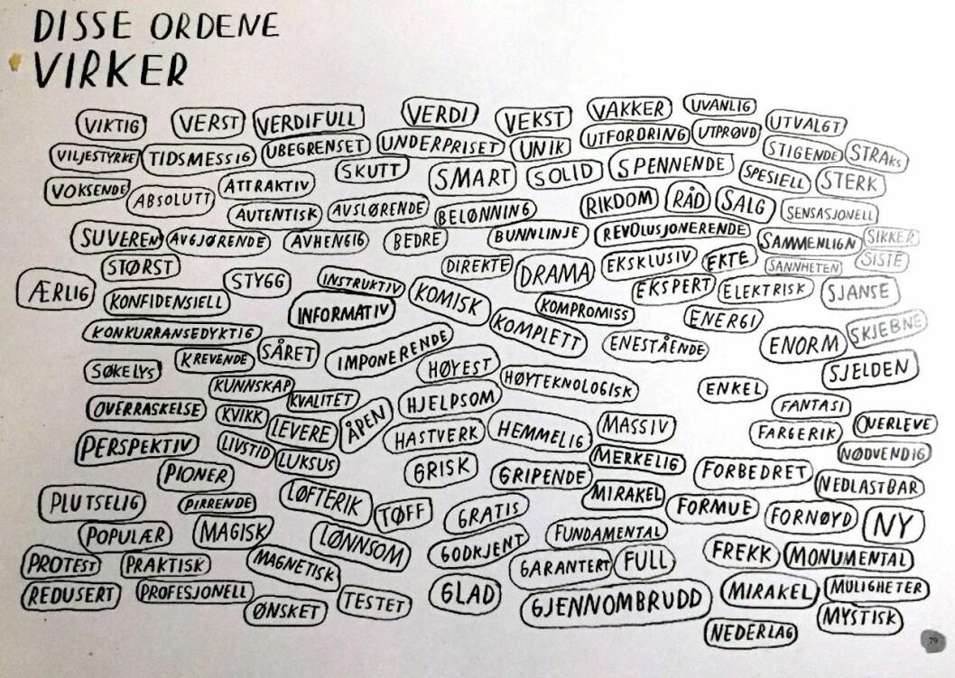 ORD SOM FENGER. Illustrasjon fra «Fang leseren».