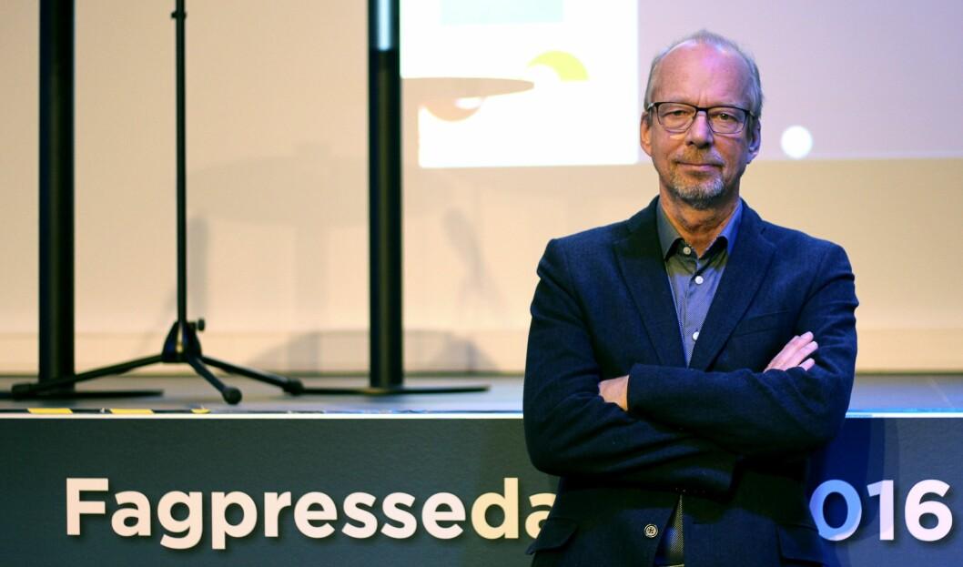 Barth Tholens, redaktør for Sykepleien. Her på Fagpressedagen i november.