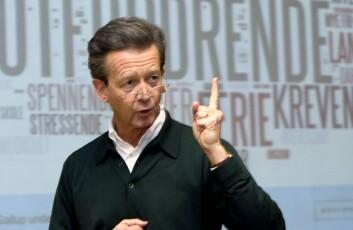 Hans Geelmuyden, sjef for PR-byrået Geelmuyden Kiese og en frittalende bransjenestor. Her under en lansering i 2009.