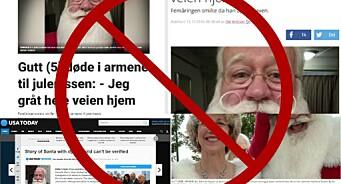Dagbladet, Nettavisen og P4 skrev om gutten som «døde på nissens fang». Men ingen sjekket om det faktisk hadde skjedd