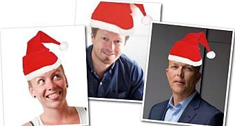 Tre julespesialer fra MediaPuls: Preben Carlsen, Anita Schjøll Brede og Nils Apeland