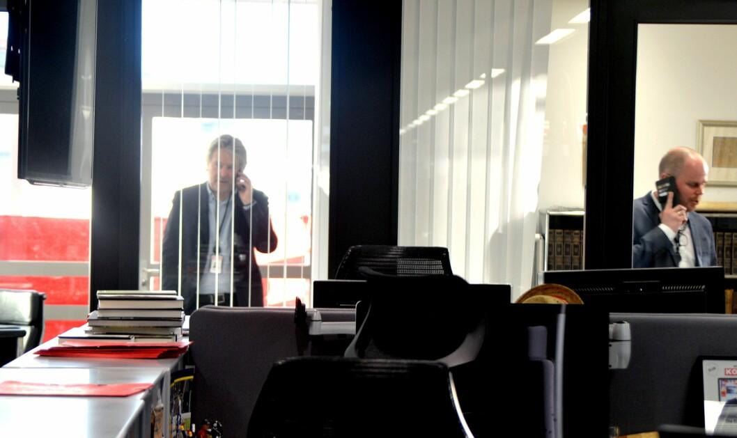 Da nyheten sprakk om sjefredaktørskiftet, ble det heftig telefonering i VG-huset.