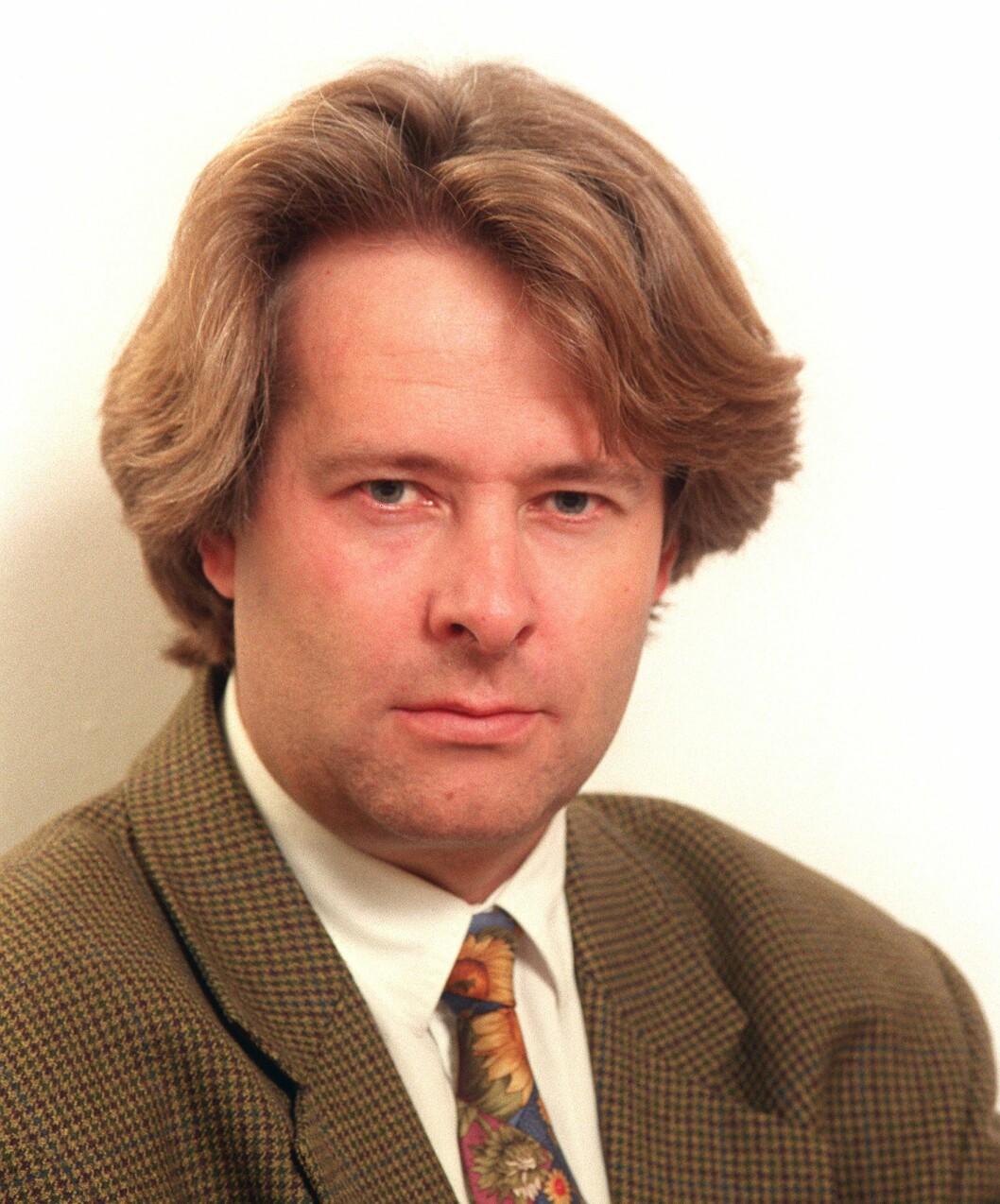 En ung Torry Pedersen, november 1994, fersk nyhetsredaktør i VG.