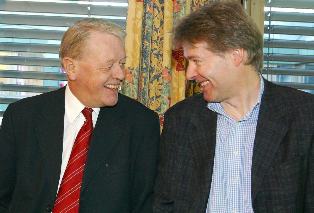 2003: TV 2-sjef Kåre Valebrokk innleder et samarbeid om digitale rubrikkannonser med VG Nett og Torry Pedersen.