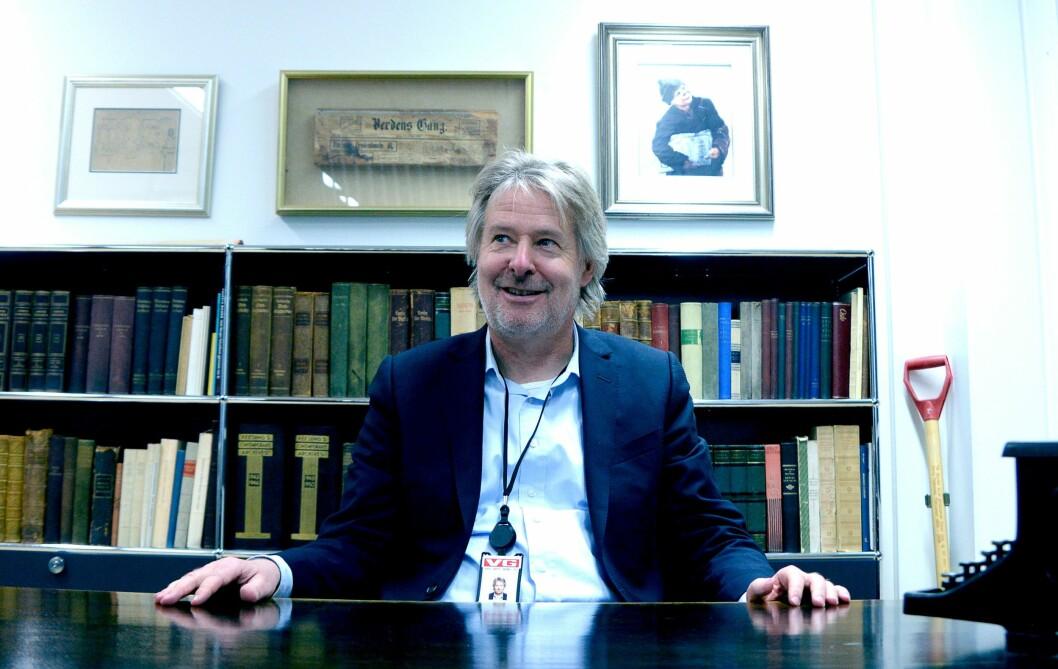 Torry Pedersen, publisitisk redaktør i Schibsted fotografert ved en tidligere anledning.