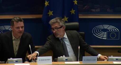 Her taler Espen Egil Hansen til Europaparlamentet - benyttet anledningen til å skryte av Facebook