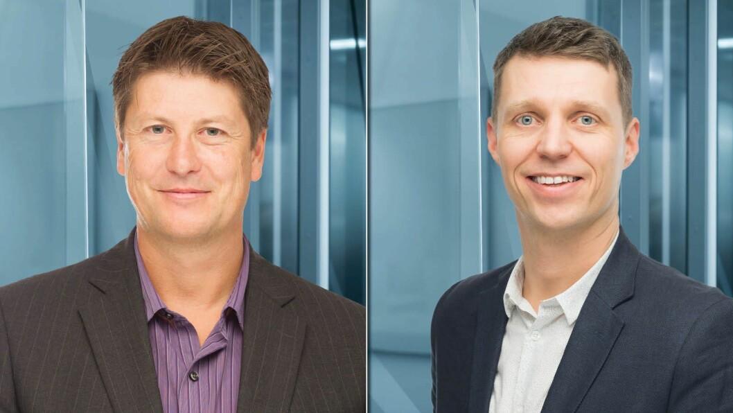 Håkon Borud og Jo Christian Oterhals, tidligere medieledere - nå First House-rådgivere.