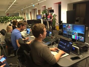 På videodesken hos ABC Startsiden i Oslo.