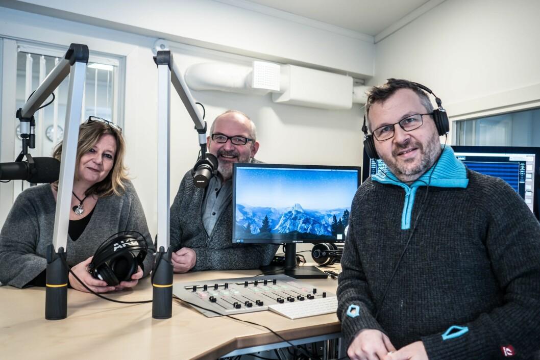 Røros-redaksjonen i Nea Radio, fra venstre: Marit Manfredsdotter, Nils Kåre Nesvold og Per Magne Moan.