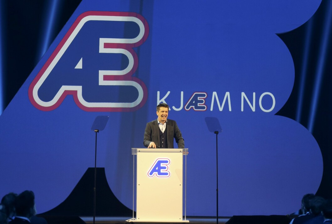 Rema-sjef Ole Robert Reitan samlet 550 kjøpmenn på Gardermoen i januar for å lansere «Æ»-konseptet.