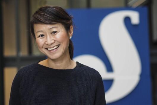 Camilla Kim Kielland, kommunikasjonsdirektør i Schibsted sier Schibsted tiltrekker seg attraktive folk.