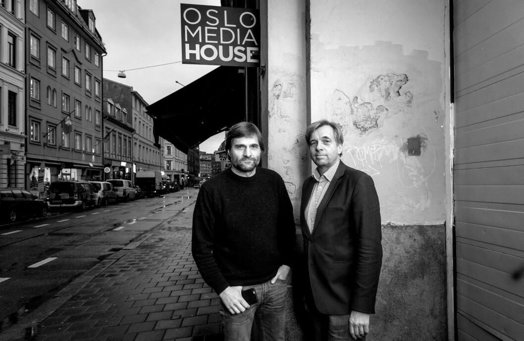 Forfatterne av «Autostory»: Magne Otterdal (t.v.) og Geir-Terje Ruud.