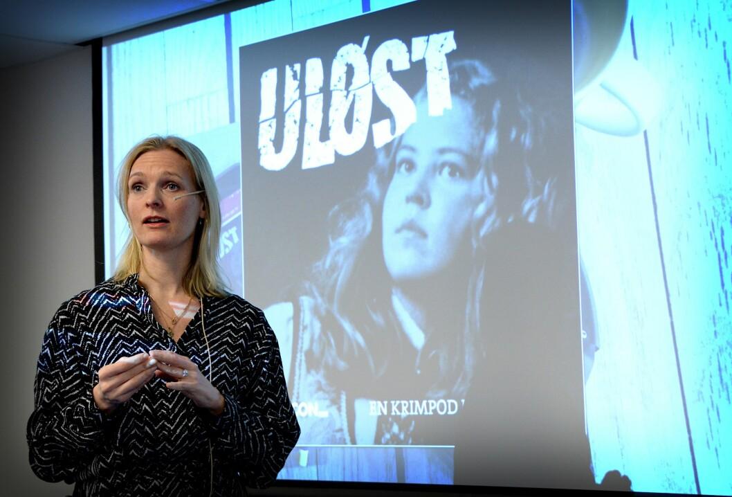 Podkast-sjef Kristine Hellesland i VG.