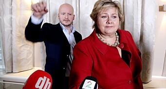 - Regjeringen boikotter ingen nyhetsmedier, svarer pressesjef Sigbjørn Aanes etter helgas trusler om boikott fra Per-Willy Amundsen