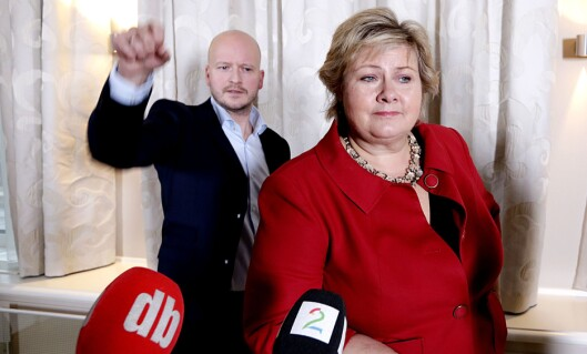 Tidligere statssekretær og spinndoktor Sigbjørn Aanes til statsminister Erna Solberg (H).