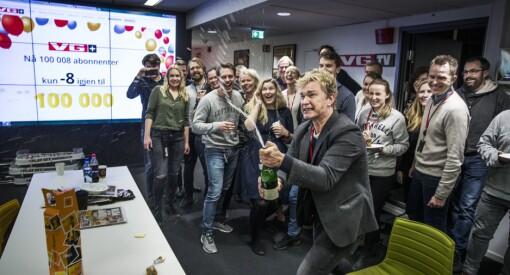 I går passerte VG+ 100.000 abonnenter - og kunne sprette champagnen