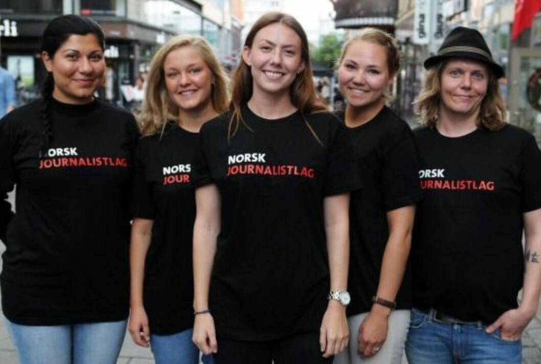 NJ Student-leder Trude Furuly (i midten).