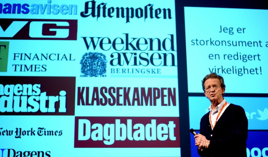 - Jeg leser mye, men stadig mer utenlandske aviser, sa Geelmuyden.