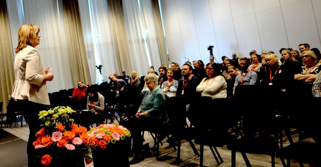 NRKs språksjef Ingvild Bryn snakker engasjerende om språk for trønderske journalister.