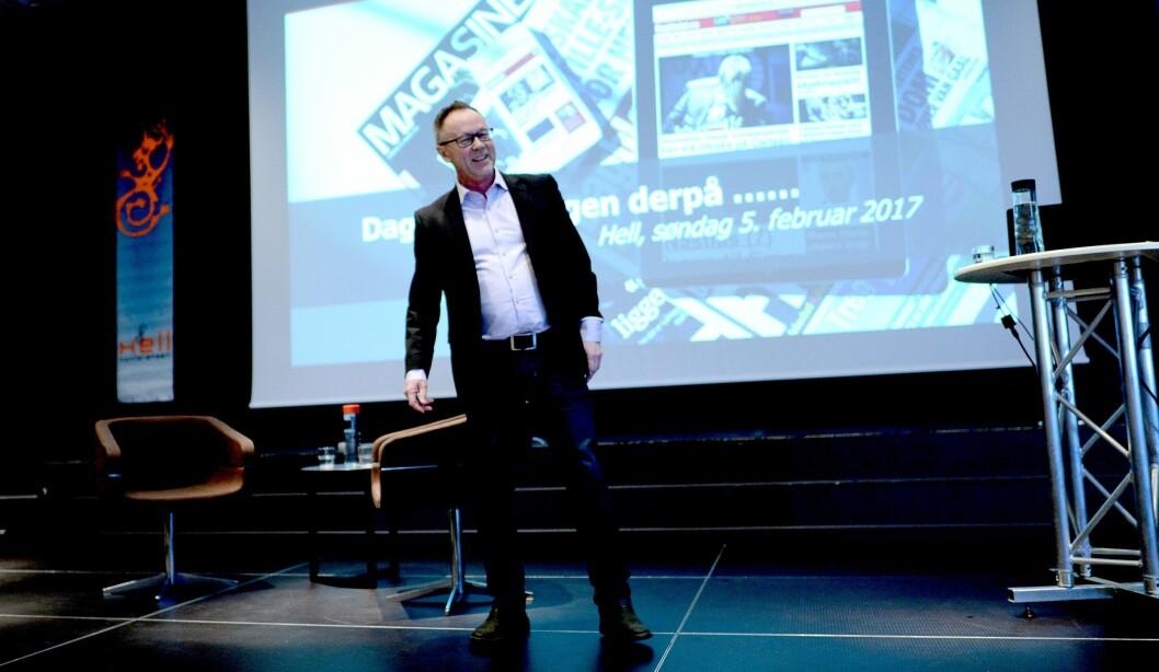 Dagbladets redaktør John Arne Markusen - her på Hellkonferansen i februar.