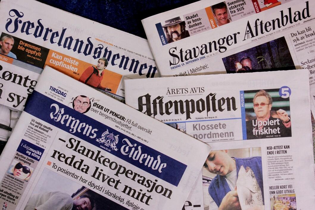 Schibsteds fire abonnementsaviser.